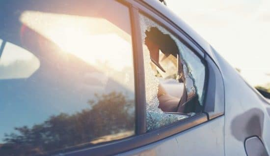 auto glass broken